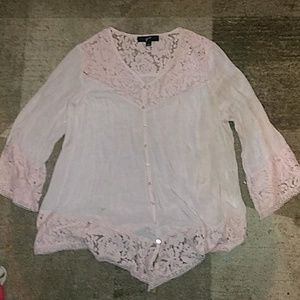 GNW Baby Pink Flowy Top Large